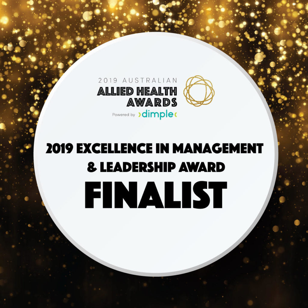 Loqui Speech Pathology 2019 Excellence in Management and Leadership Award Finalist Australian Allied Health Awards