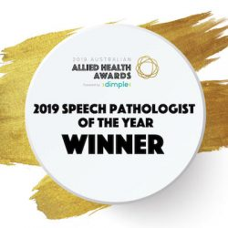 Bernadette Dutton Speech Pathologist of the Year Winner 2019 Allied Health Awards